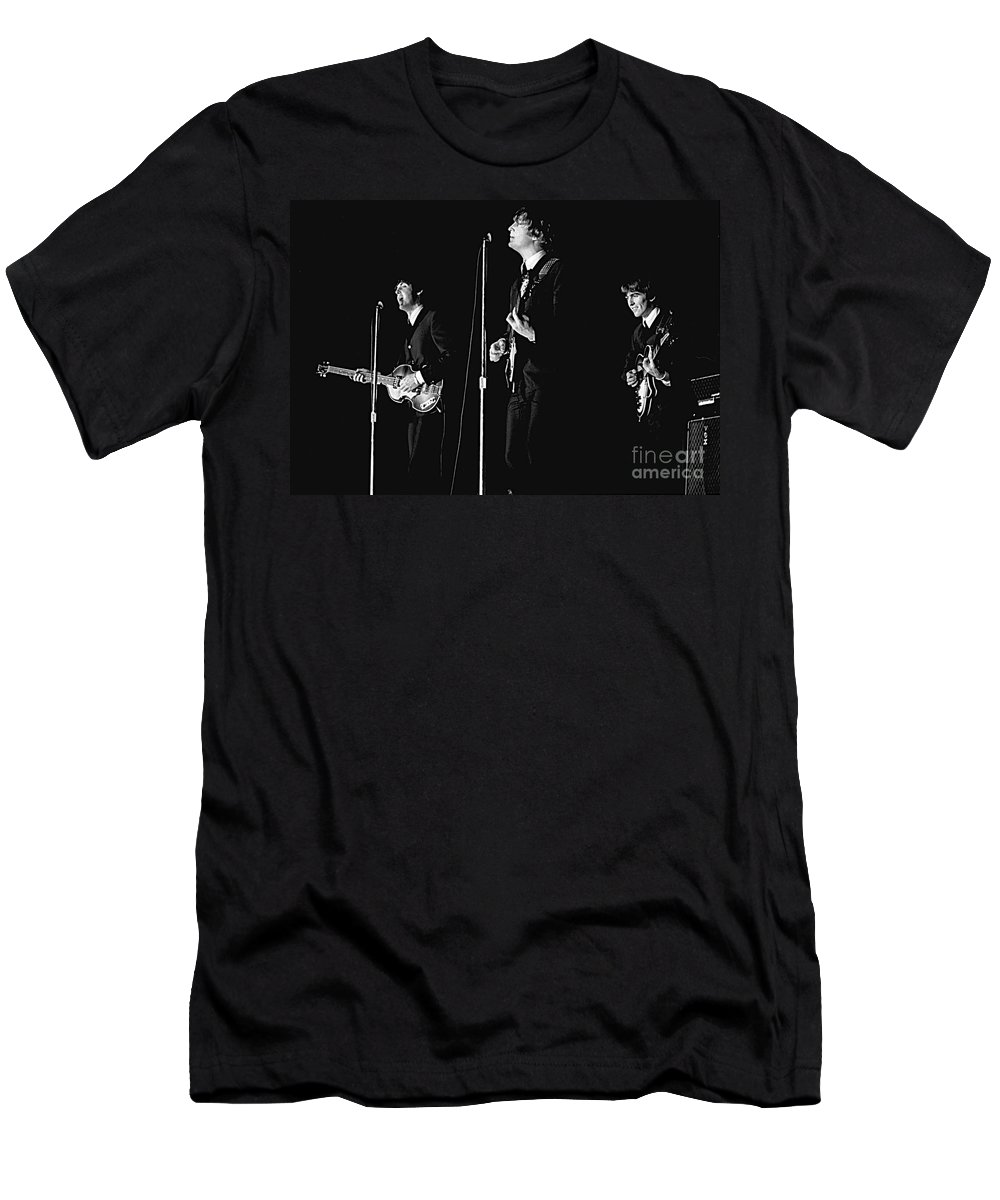 Beatles T-Shirt featuring the photograph Beatles In Concert, 1964 by Larry Mulvehill