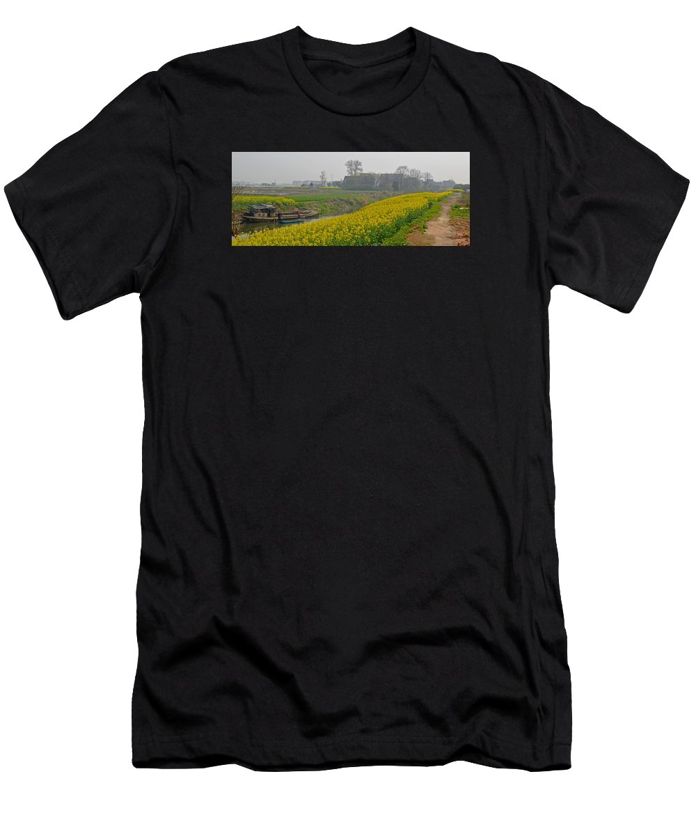 Beautiful Men's T-Shirt (Athletic Fit) featuring the photograph Beautiful China's Rural Scenery by Hongtao   Huang