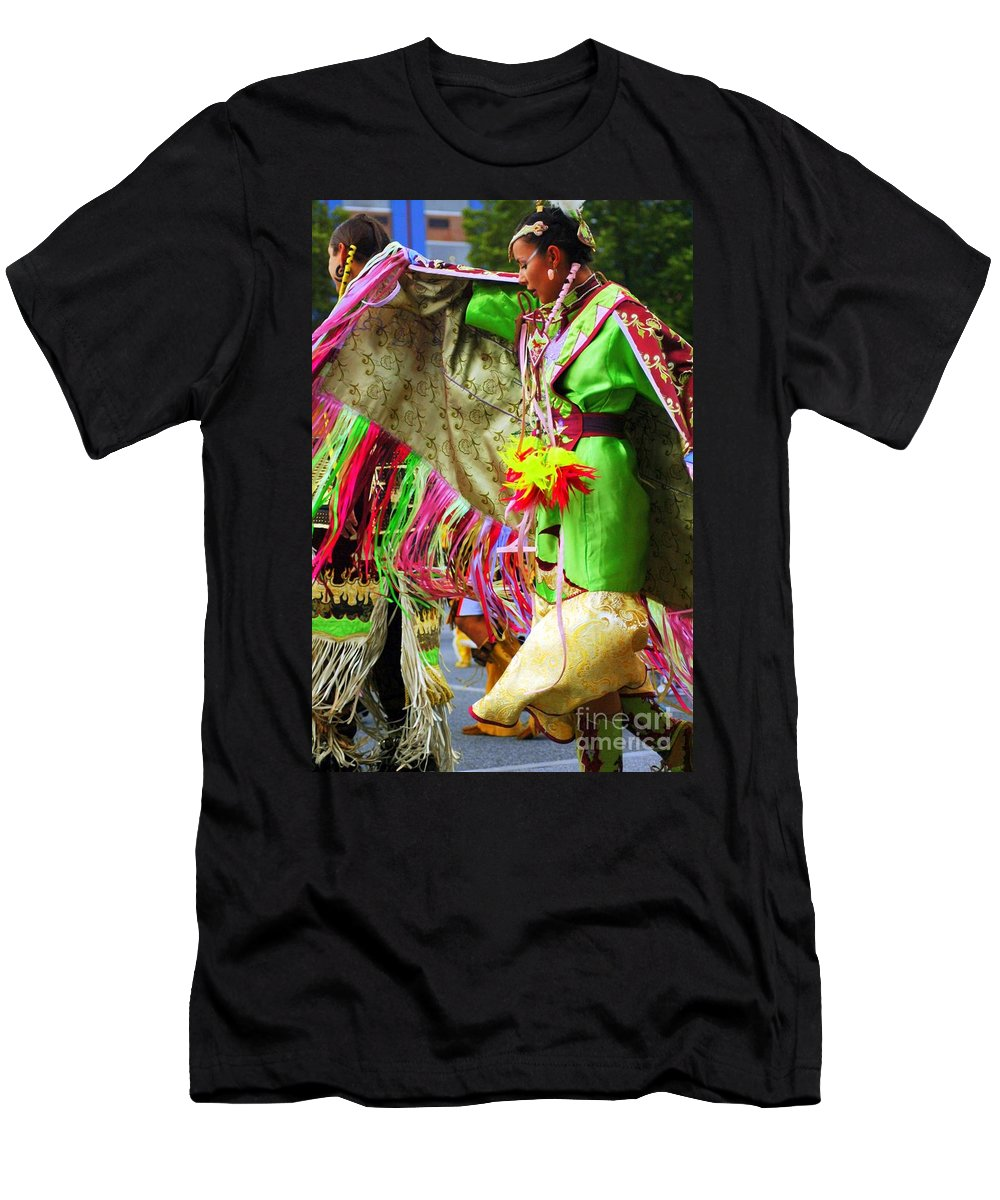 Native Men's T-Shirt (Athletic Fit) featuring the photograph Beautiful Dancer by Kathleen Struckle