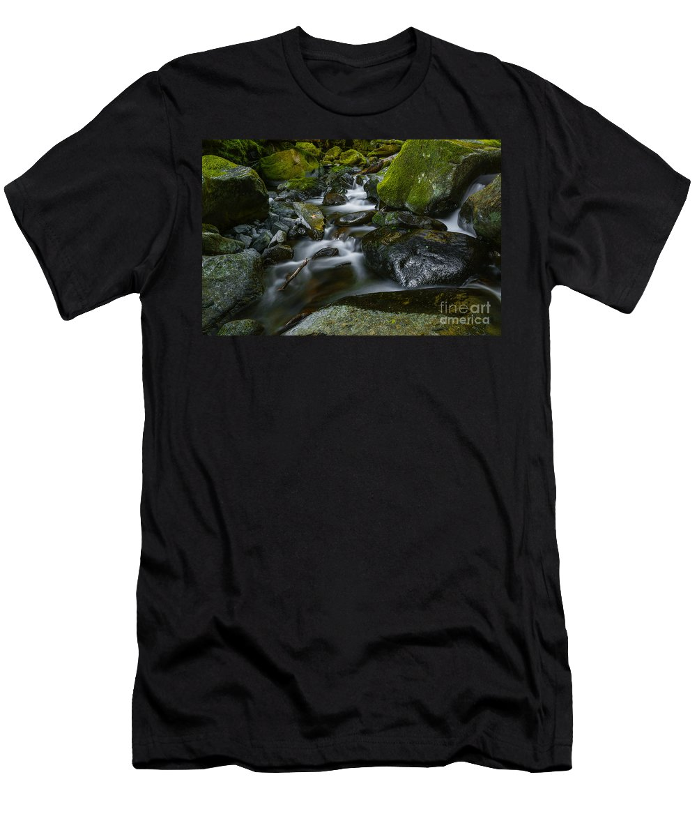 Stream Men's T-Shirt (Athletic Fit) featuring the photograph Beautiful Stream by Vishwanath Bhat