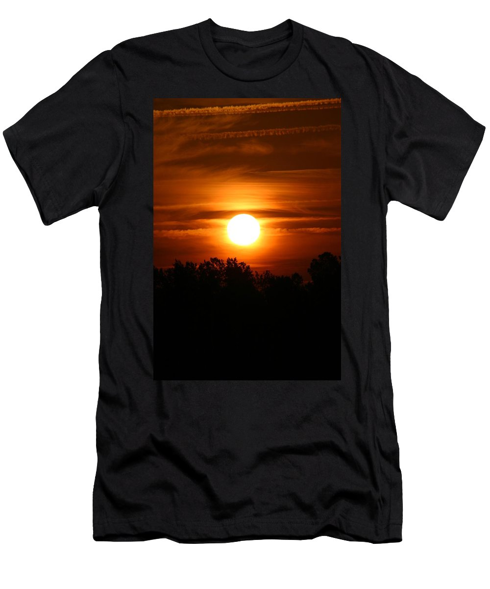Laura Duhaime Photography Men's T-Shirt (Athletic Fit) featuring the photograph Beautiful Sunrise by Laura Duhaime