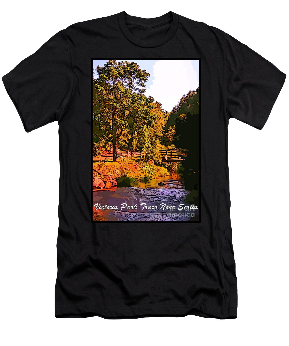 Beautiful Victoria Park Truro Nova Scotia Men's T-Shirt (Athletic Fit) featuring the photograph Beautiful Victoria Park Truro Nova Scotia by John Malone