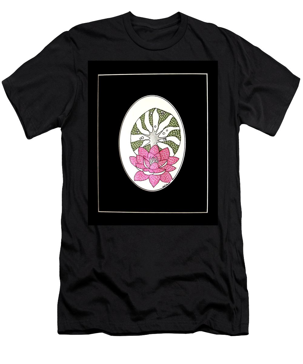 Lotus Men's T-Shirt (Athletic Fit) featuring the painting Beauty Of The Spirit II by Kruti Shah