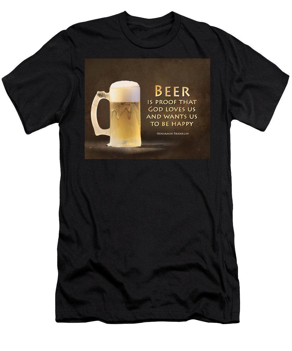 Beer Men's T-Shirt (Athletic Fit) featuring the photograph Beer by Lori Deiter