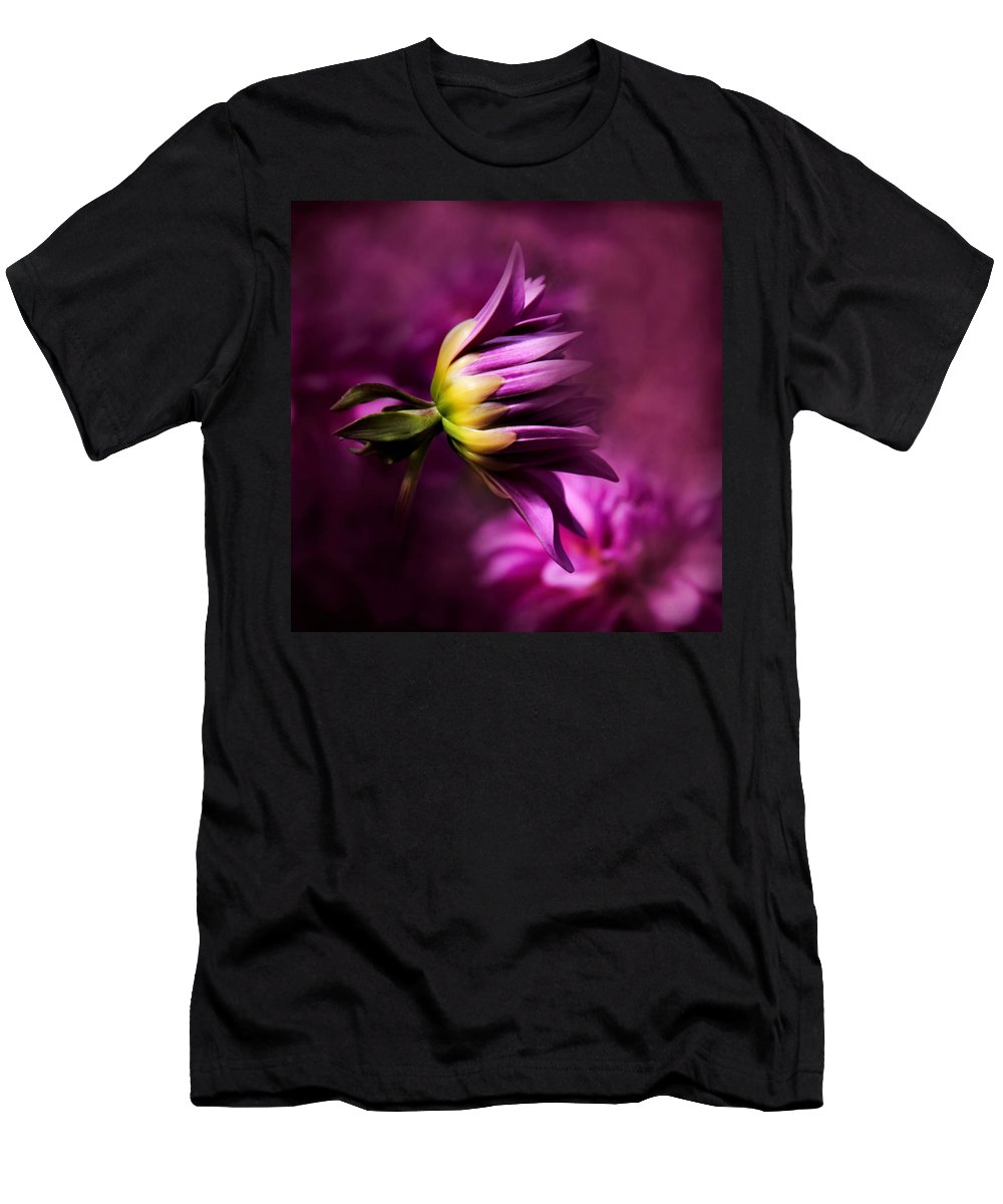Flower Photography Men's T-Shirt (Athletic Fit) featuring the photograph Beginnings by Sally Bauer