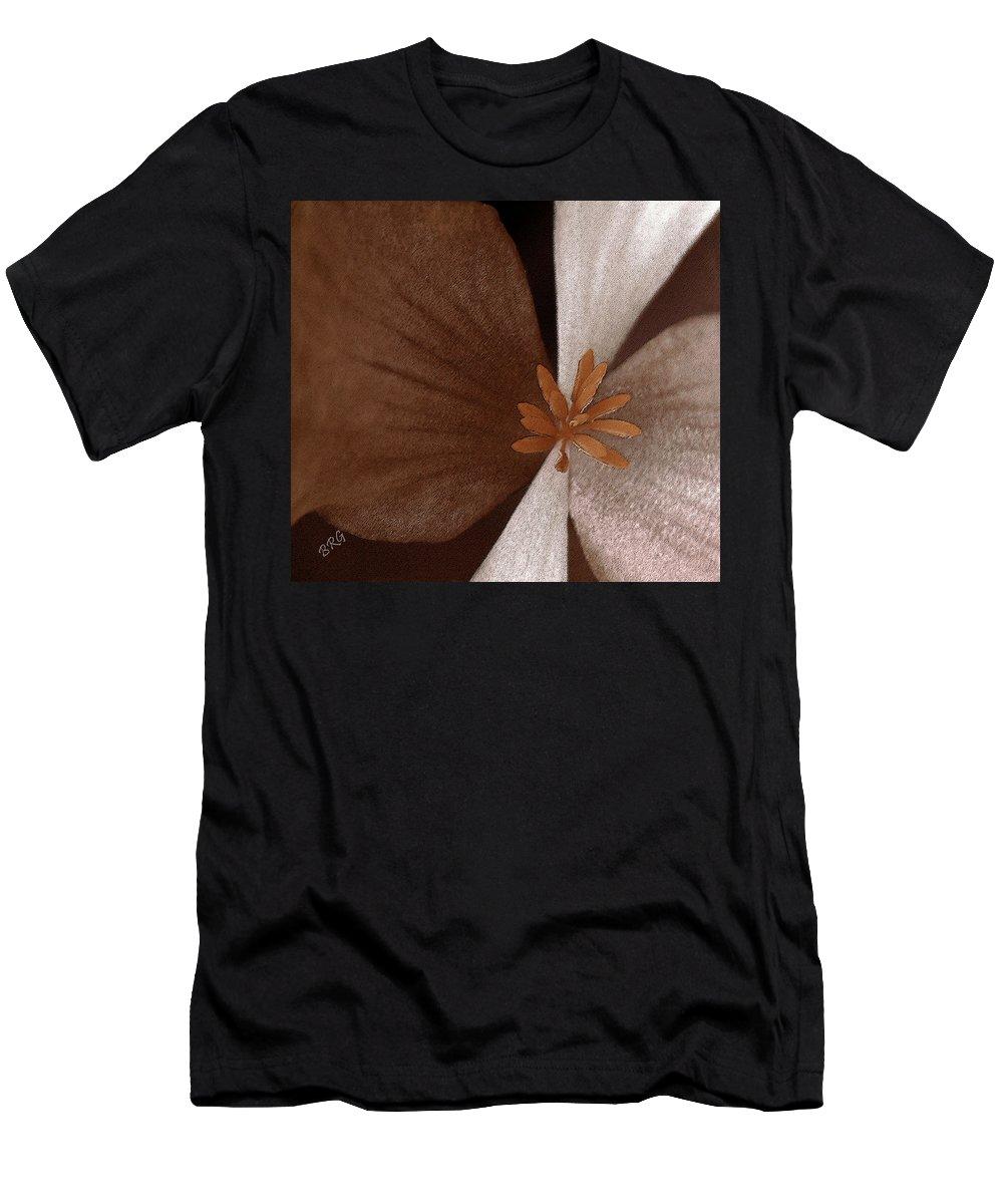 Begonia Macro Men's T-Shirt (Athletic Fit) featuring the photograph Begonia by Ben and Raisa Gertsberg