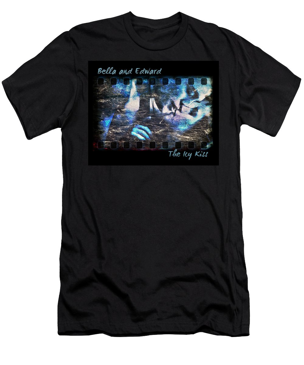 Bella Men's T-Shirt (Athletic Fit) featuring the digital art Bella And Edward - The Icy Kiss by Absinthe Art By Michelle LeAnn Scott