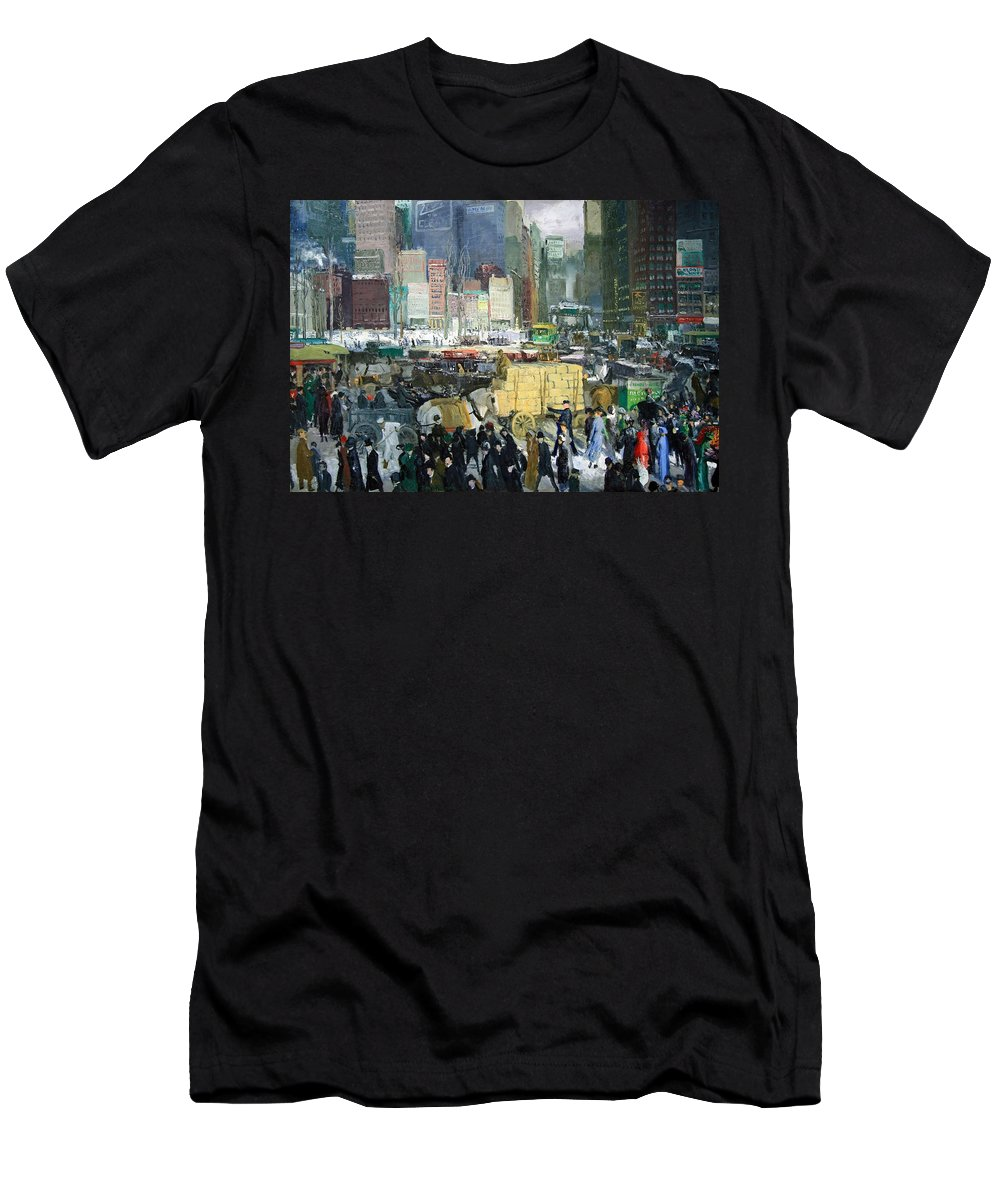 New York Men's T-Shirt (Athletic Fit) featuring the photograph Bellows' New York by Cora Wandel