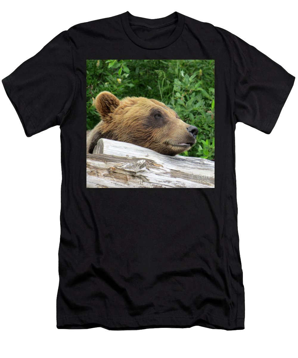 Bear Men's T-Shirt (Athletic Fit) featuring the photograph Ben by Stacey May