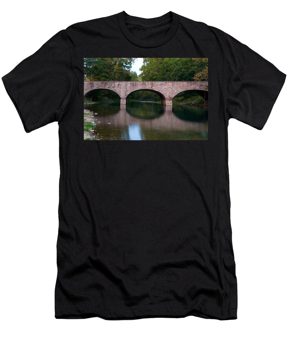 Missouri Men's T-Shirt (Athletic Fit) featuring the photograph Bennett Bridge by Steve Stuller