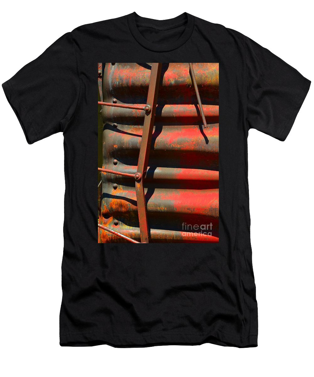 Abstract Men's T-Shirt (Athletic Fit) featuring the photograph Bent Out Of Shape by Lauren Leigh Hunter Fine Art Photography