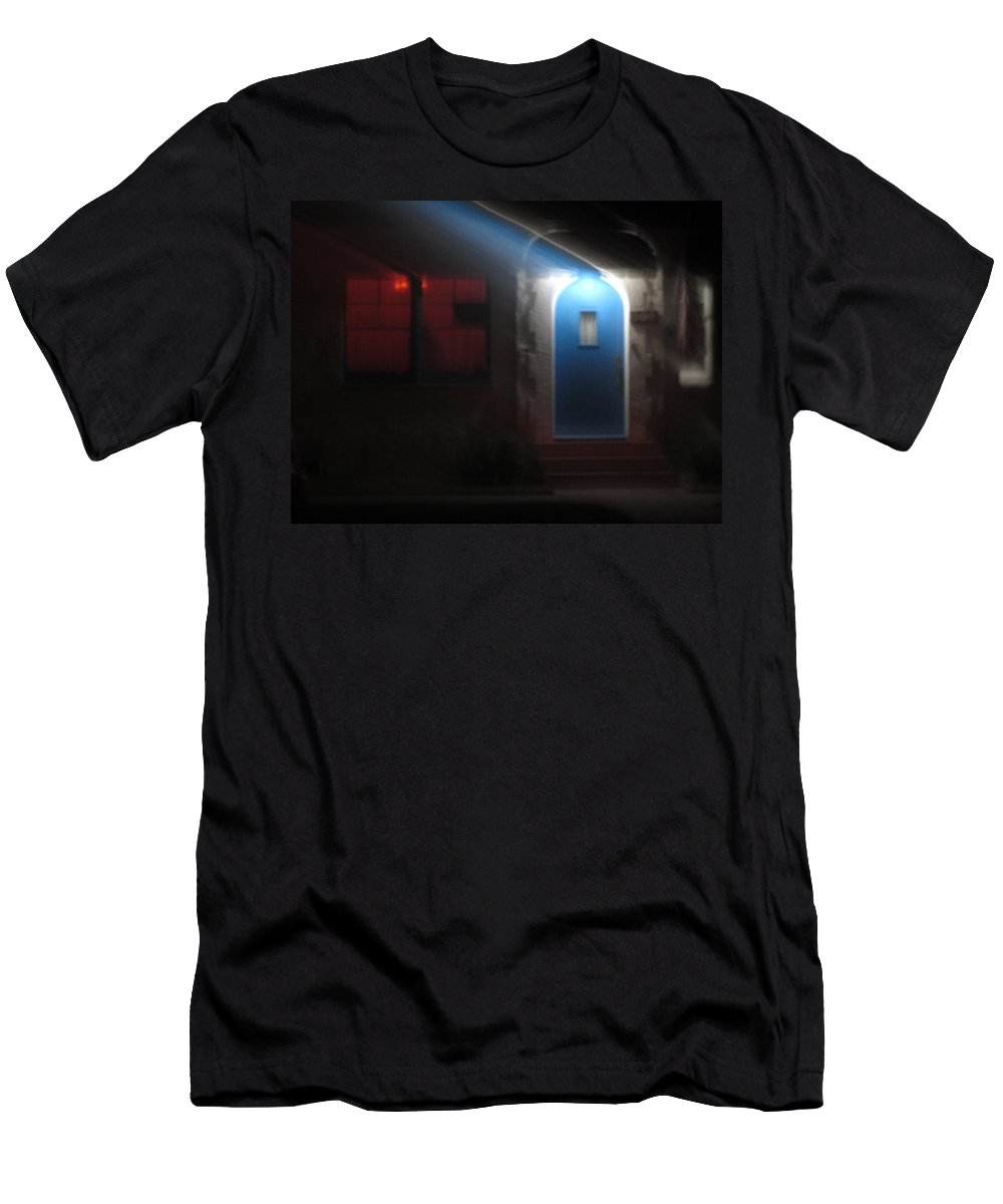 Door Men's T-Shirt (Athletic Fit) featuring the photograph Best Blue Door Coronado California by Sharon French
