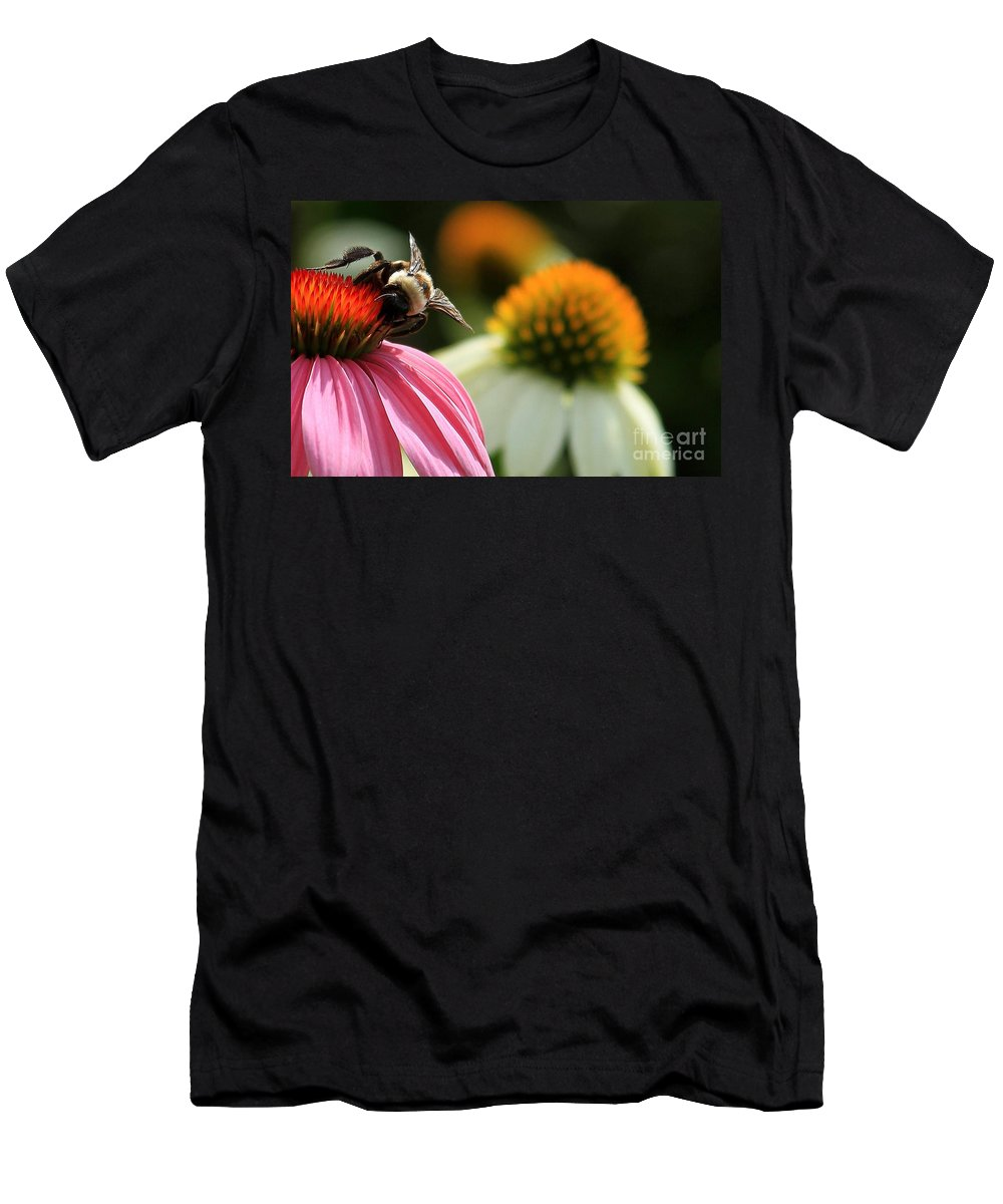 Flowers Men's T-Shirt (Athletic Fit) featuring the photograph Best Worker by Reid Callaway
