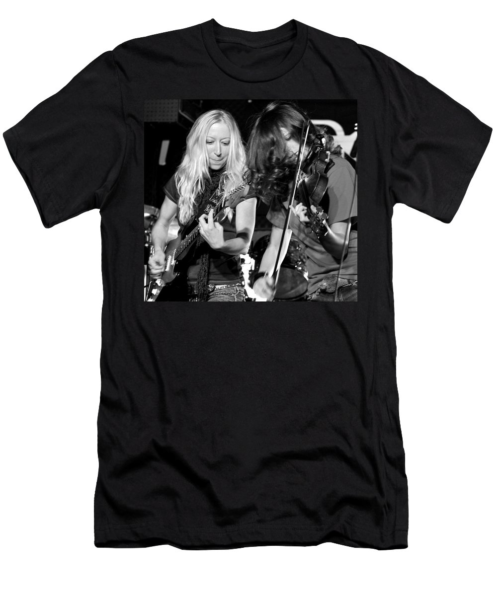 Music Men's T-Shirt (Athletic Fit) featuring the photograph Stellar Musicians Beth Garner Ivalee Pitts Nashville Tennessee by Steve Archbold