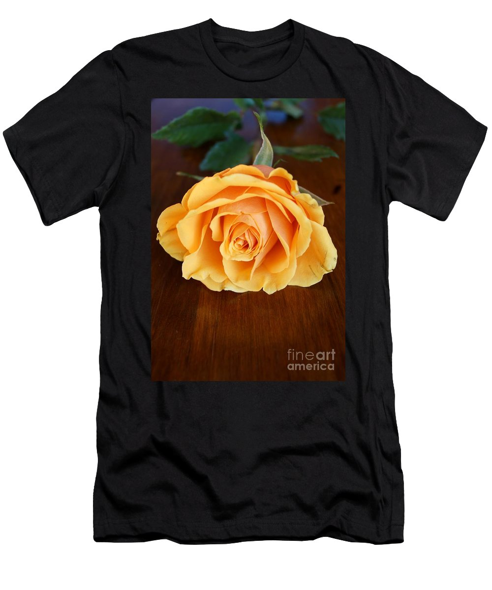 Roses Men's T-Shirt (Athletic Fit) featuring the photograph Betty's Rose by Kerri Mortenson