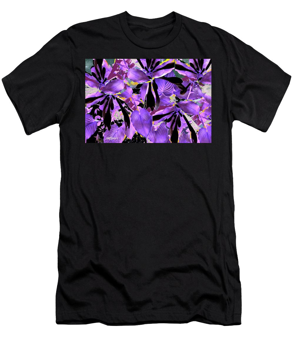 Beware The Midnight Garden Men's T-Shirt (Athletic Fit) featuring the digital art Beware The Midnight Garden by Seth Weaver