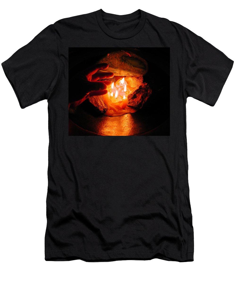 Colette Men's T-Shirt (Athletic Fit) featuring the photograph Beyond Light Zen Meditation Connection by Colette V Hera Guggenheim