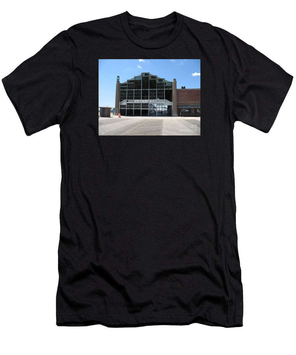 Casino Men's T-Shirt (Athletic Fit) featuring the photograph Beyond Recovery - Casino Ruin Ashbury Park by Christiane Schulze Art And Photography