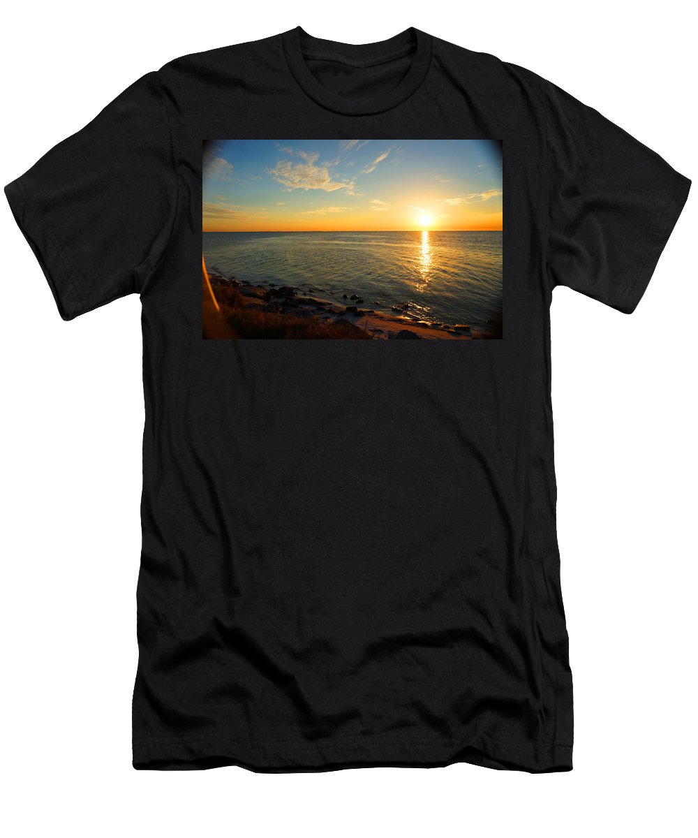 Ronald Chacon Men's T-Shirt (Athletic Fit) featuring the photograph Beyond The Door by Ronald Chacon