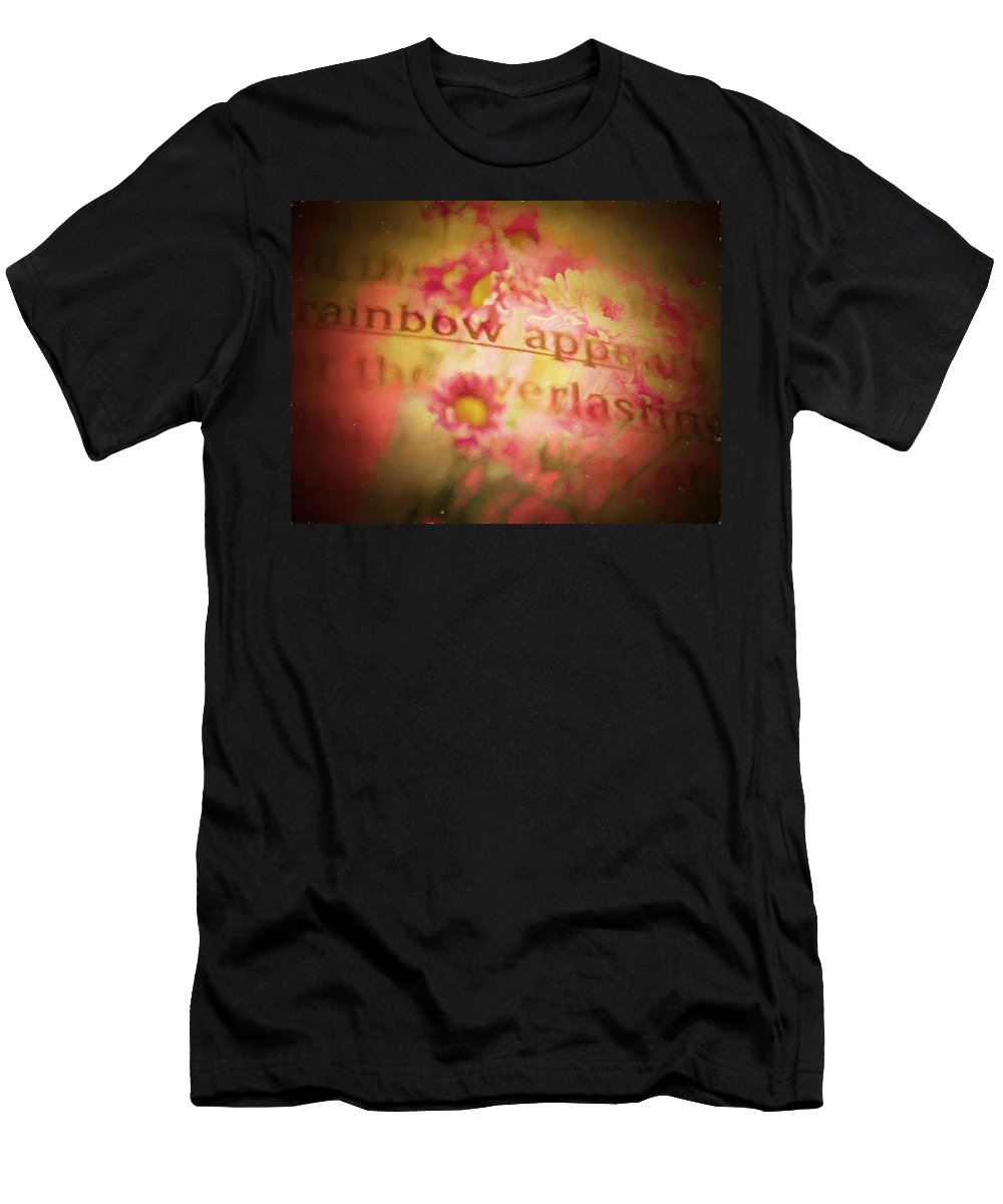 Floral Men's T-Shirt (Athletic Fit) featuring the digital art Bible Passages V by Tina Baxter