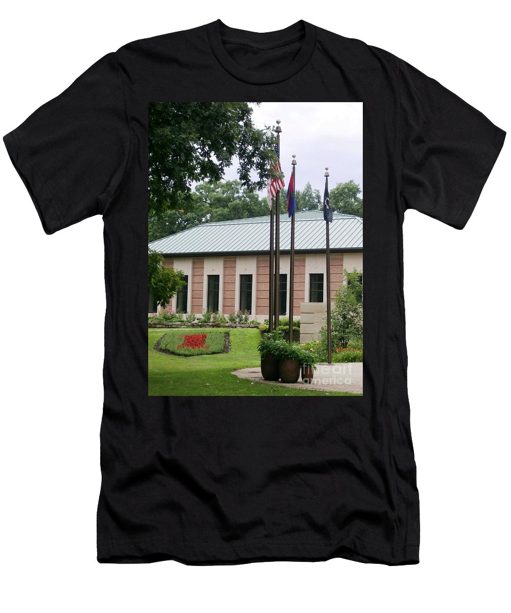 Big Red One Men's T-Shirt (Athletic Fit) featuring the photograph Big Red One by Laurie Eve Loftin