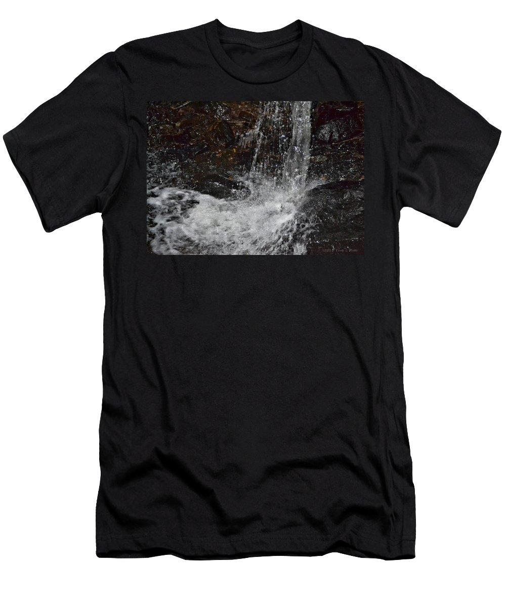 Big Rock Falls Men's T-Shirt (Athletic Fit) featuring the photograph Big Rock Falls by Tara Potts