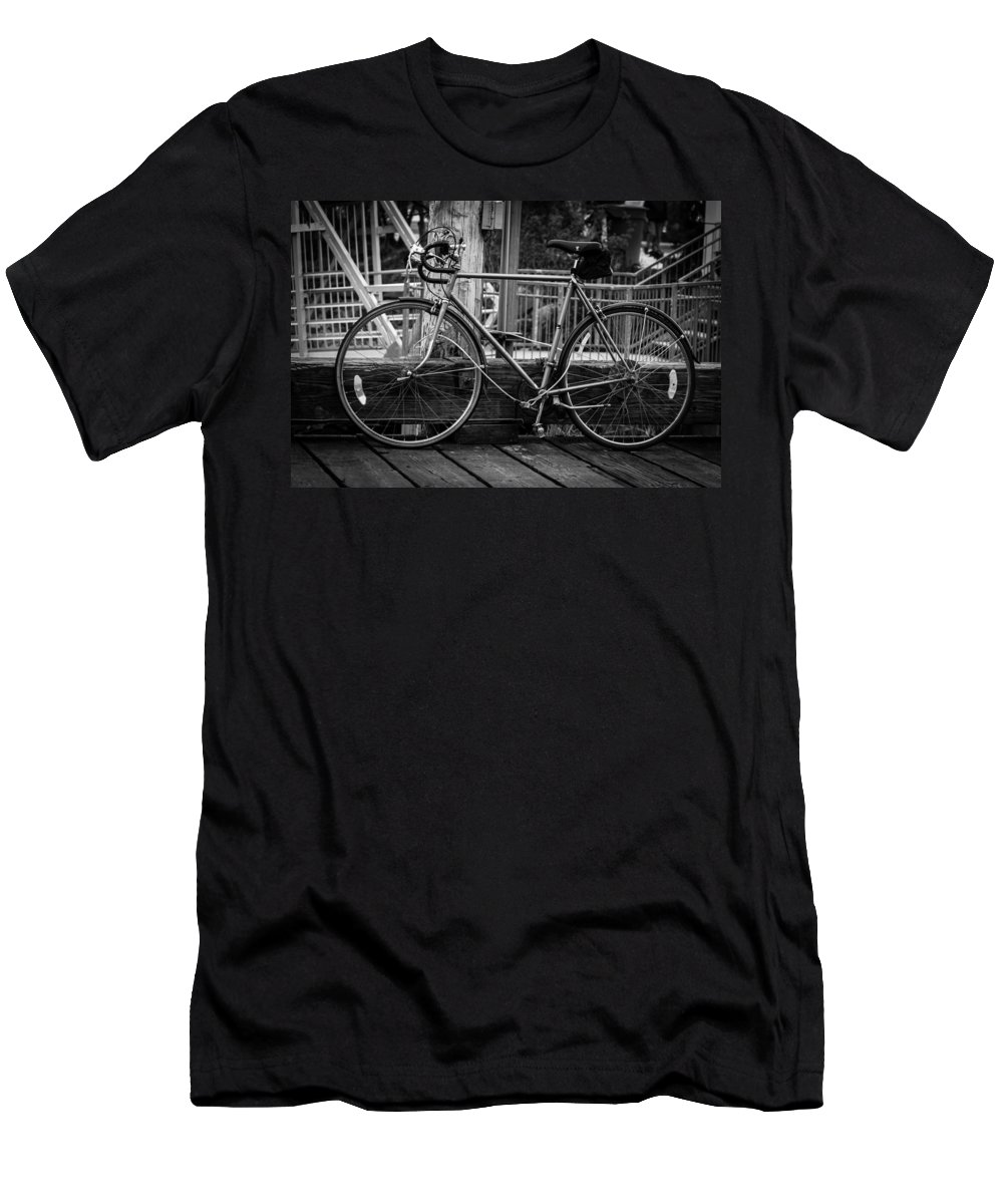 2008 Men's T-Shirt (Athletic Fit) featuring the photograph Bike On Deck by Melinda Ledsome