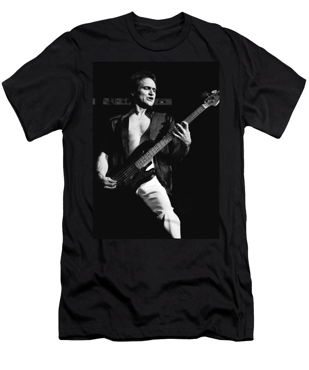 Bill Church Men's T-Shirt (Athletic Fit) featuring the photograph Bill Church On The Bass by Ben Upham