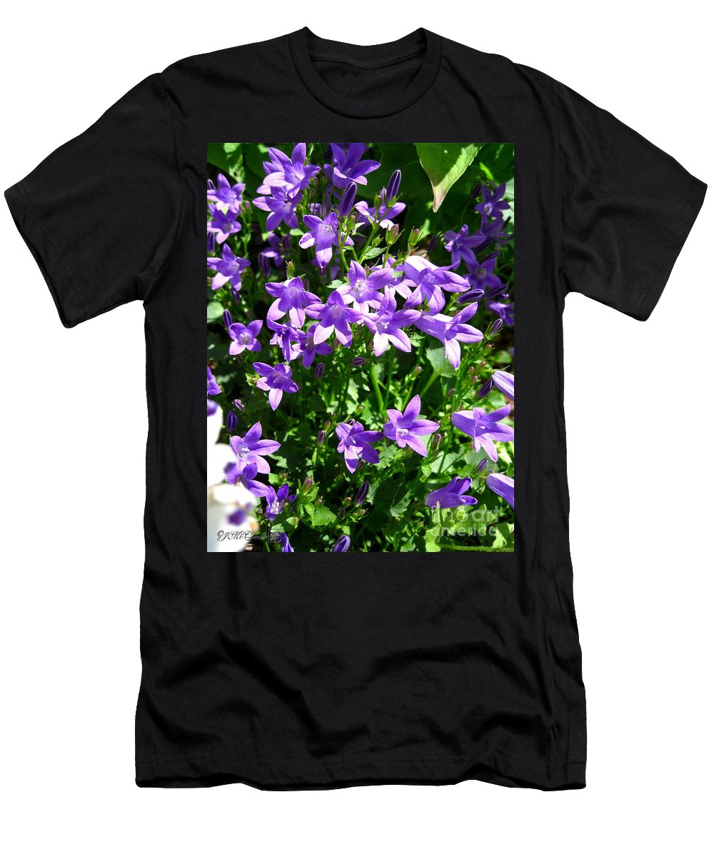Mccombie Men's T-Shirt (Athletic Fit) featuring the photograph Birch Hybrid Campanula by J McCombie