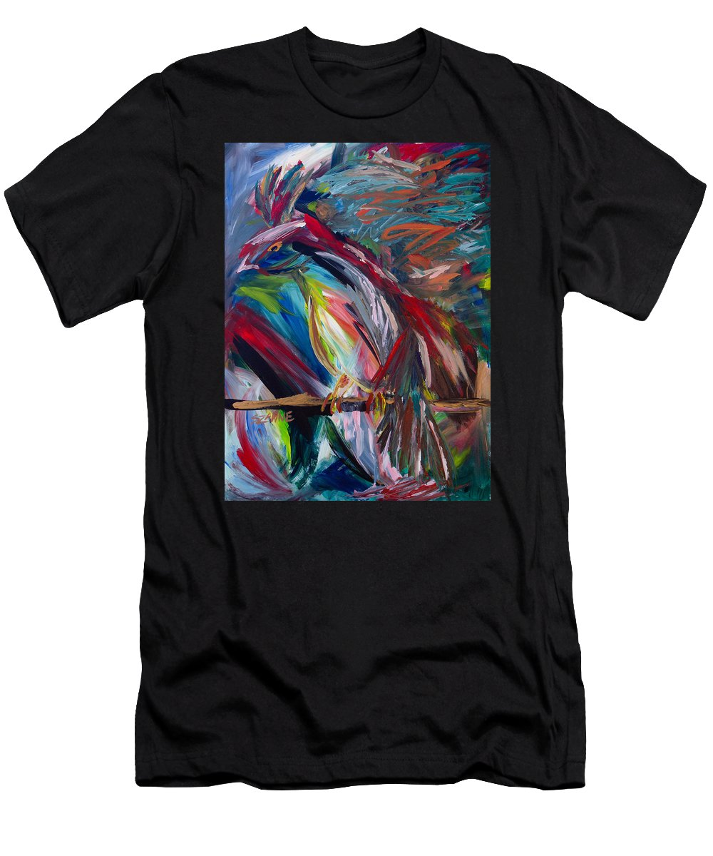 Bird Men's T-Shirt (Athletic Fit) featuring the painting Bird Of Paradise by Szanne Reynolds