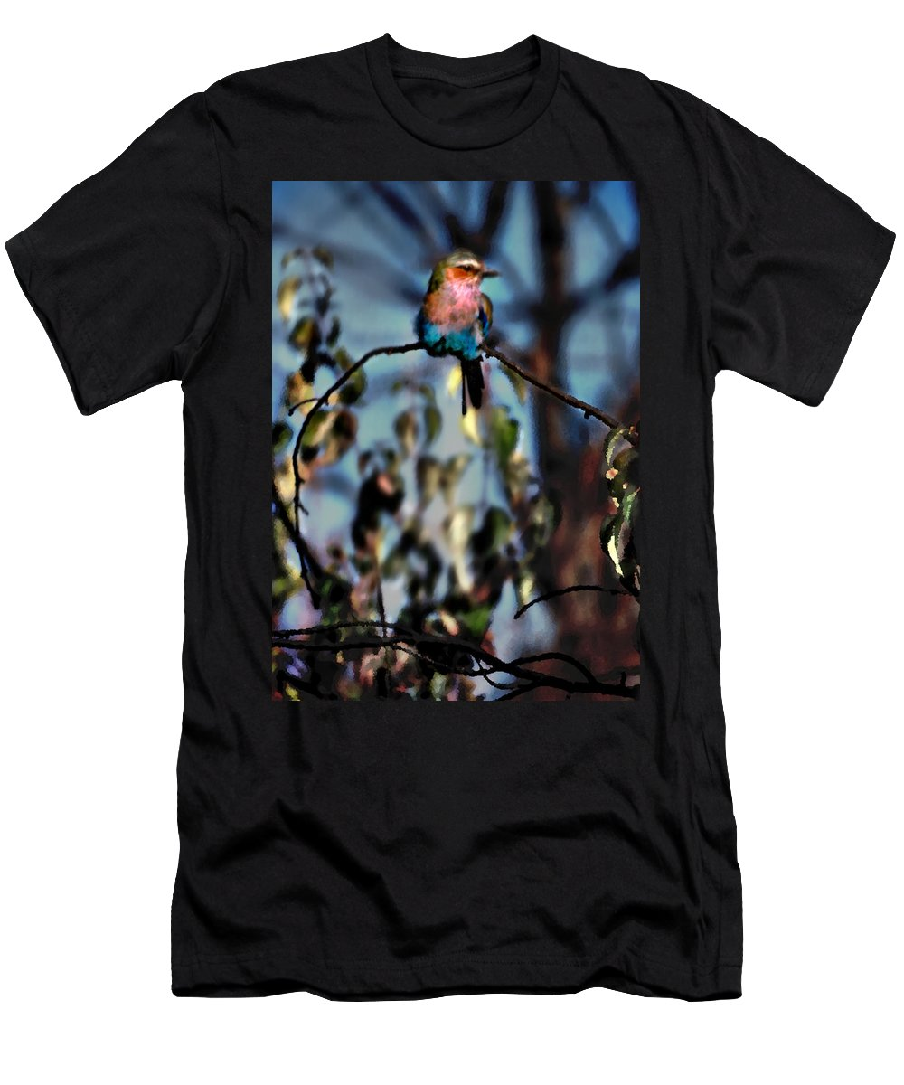Nature Men's T-Shirt (Athletic Fit) featuring the photograph Bird On A Limb by Steve Karol