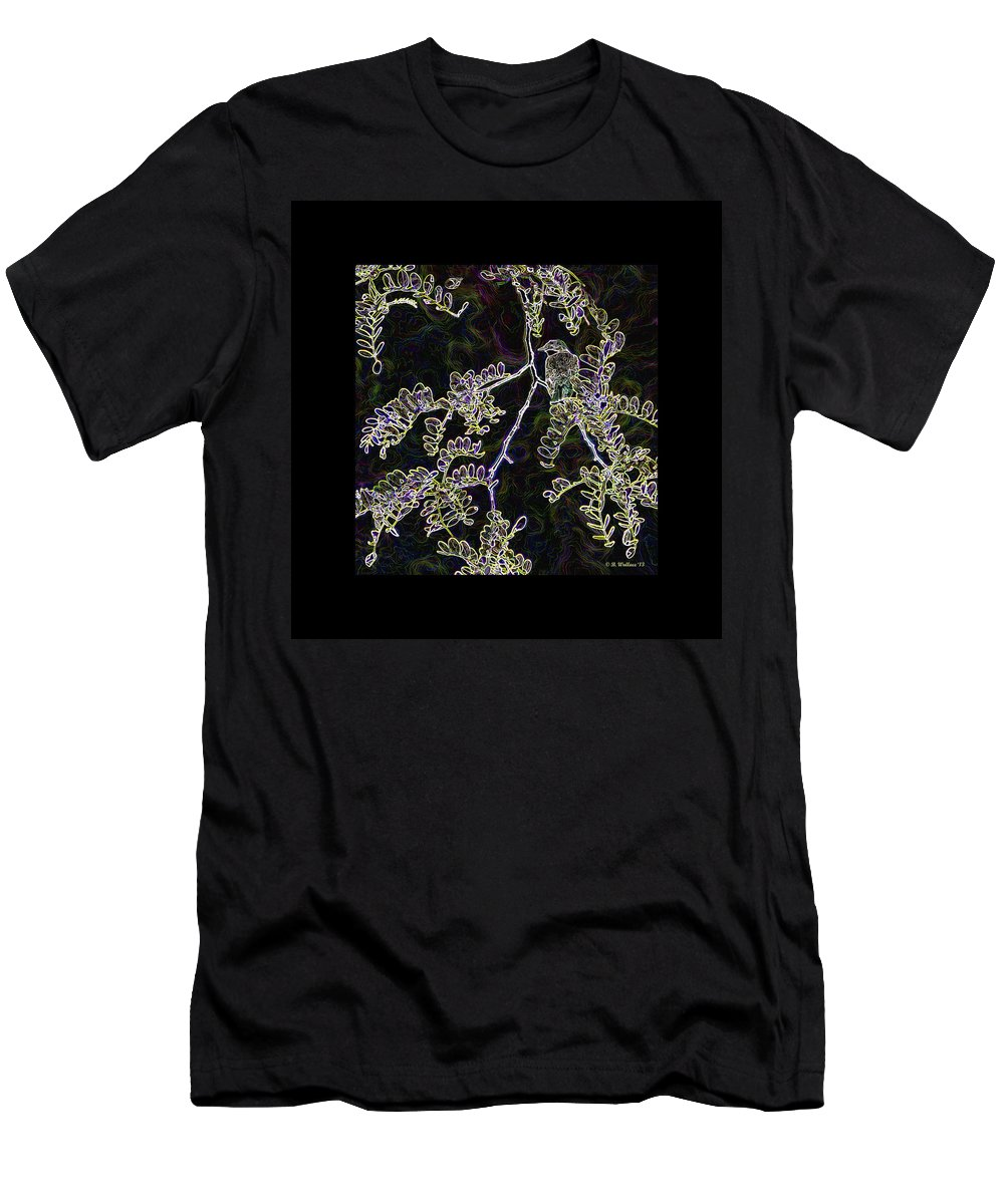 2d Men's T-Shirt (Athletic Fit) featuring the photograph Bird On Branch by Brian Wallace