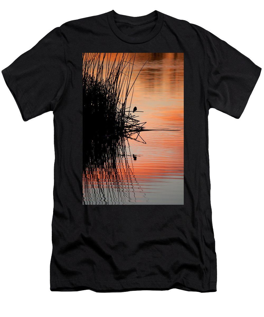 Bird Men's T-Shirt (Athletic Fit) featuring the photograph Bird Silhouette by Lisa Chorny