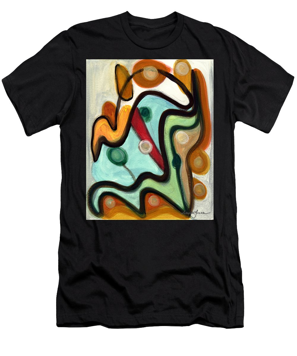 Abstract Art Men's T-Shirt (Athletic Fit) featuring the painting Birds In Flight by Stephen Lucas