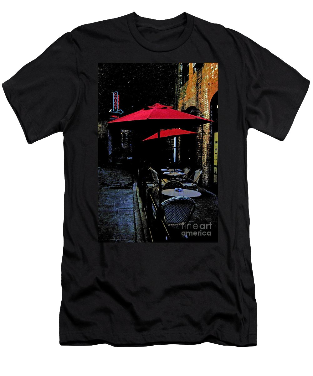Scenic Tours Men's T-Shirt (Athletic Fit) featuring the photograph Bistro by Skip Willits