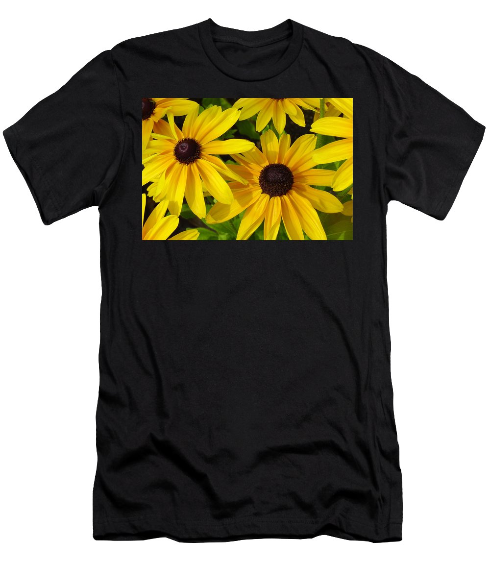 Black Eyed Susan Men's T-Shirt (Athletic Fit) featuring the photograph Black Eyed Susans by Suzanne Gaff