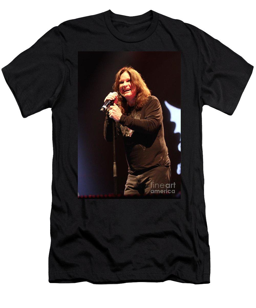 Singer T-Shirt featuring the photograph Black Sabbath - Ozzy Osbourne by Concert Photos