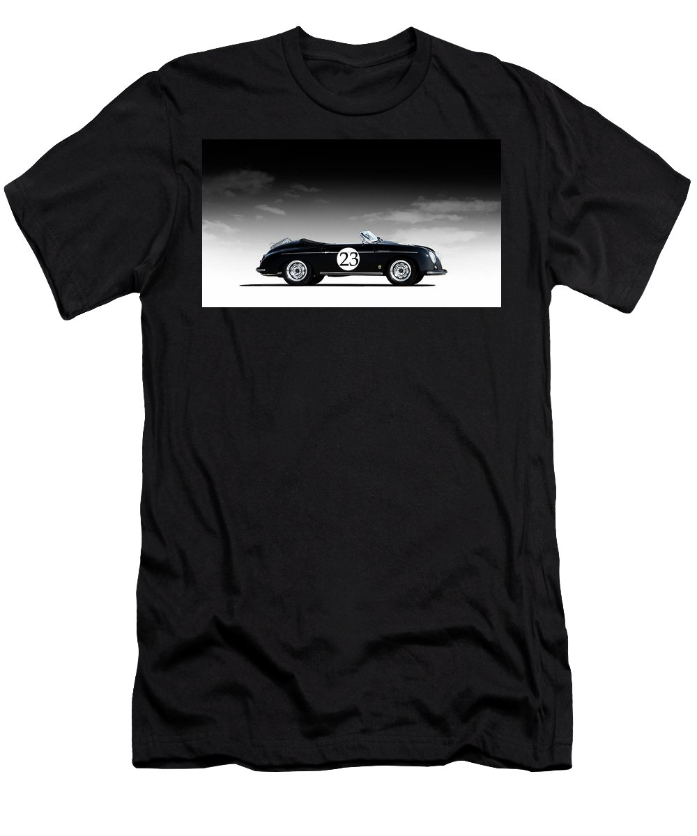 Black Men's T-Shirt (Athletic Fit) featuring the digital art Black Speedster by Douglas Pittman