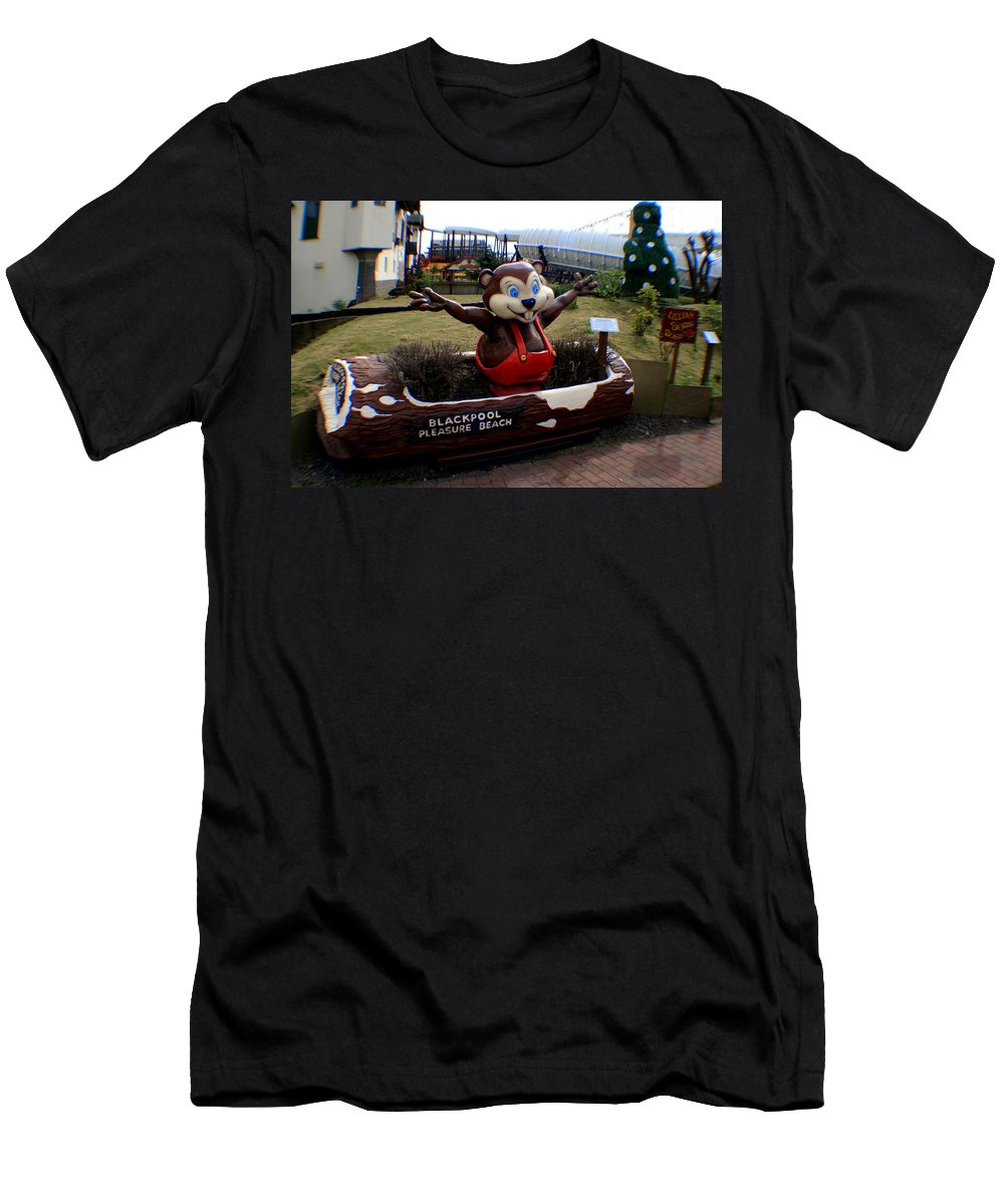 Blackpool Men's T-Shirt (Athletic Fit) featuring the photograph Blackpool Pleasure Beach Lancashire England by Doc Braham