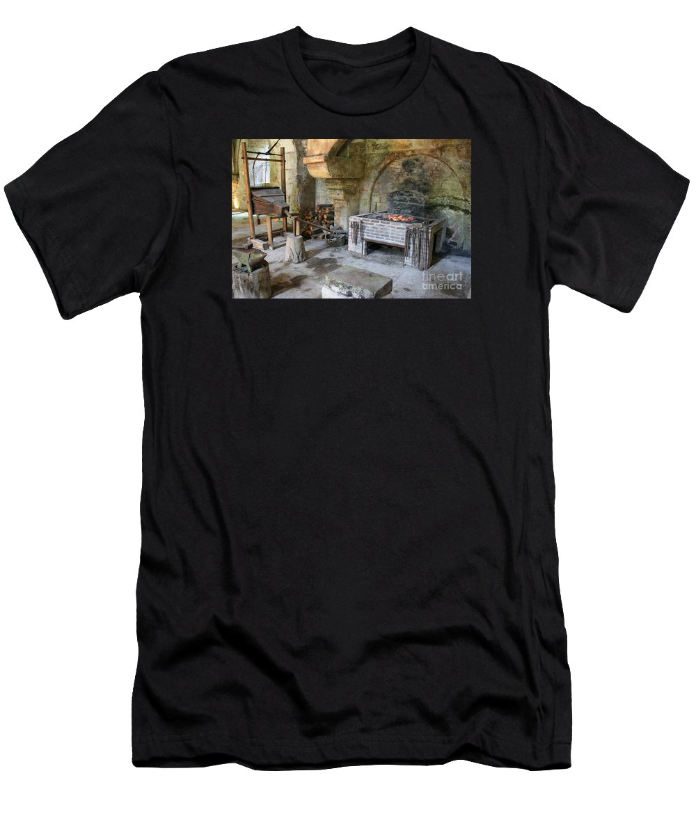 Blacksmith Men's T-Shirt (Athletic Fit) featuring the photograph Blacksmiths Workshop by Christiane Schulze Art And Photography