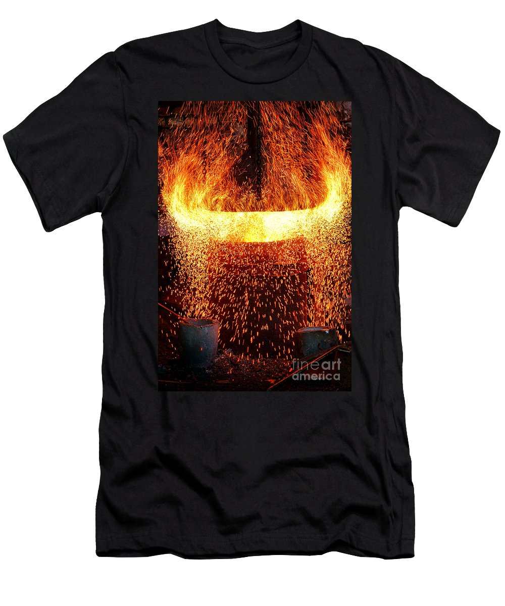 Fire Men's T-Shirt (Athletic Fit) featuring the photograph Blast by Olivier Le Queinec