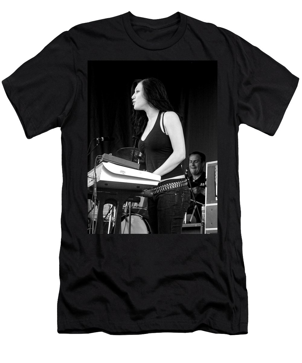 Punk Men's T-Shirt (Athletic Fit) featuring the photograph Bleeding Through's Marta Peterson by Mike Martin