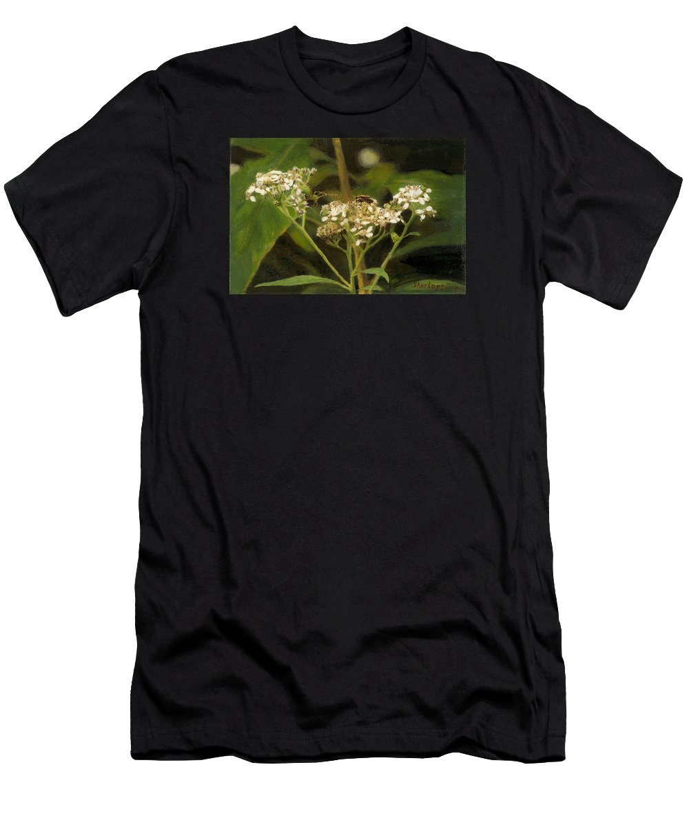 Flower Men's T-Shirt (Athletic Fit) featuring the painting Blind Love by Sherryl Lapping