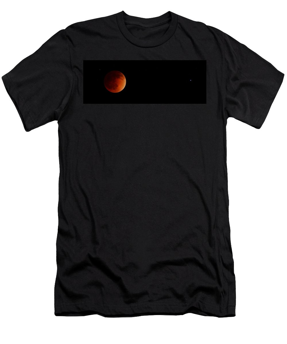 Blood Moon Men's T-Shirt (Athletic Fit) featuring the photograph Blood Moon by Richard Cheski