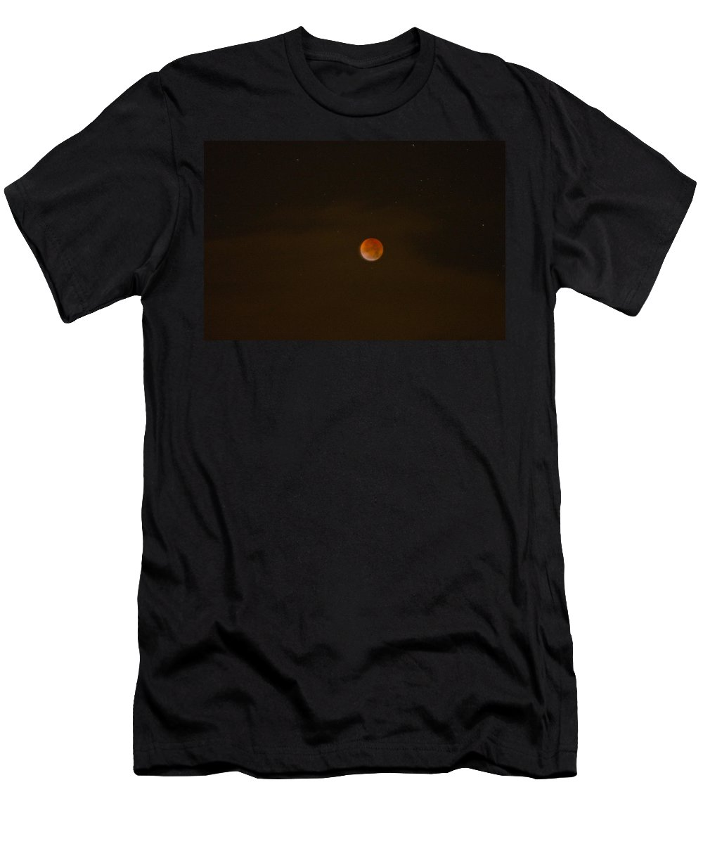 Progression Men's T-Shirt (Athletic Fit) featuring the photograph Blood Moon by Tikvah's Hope