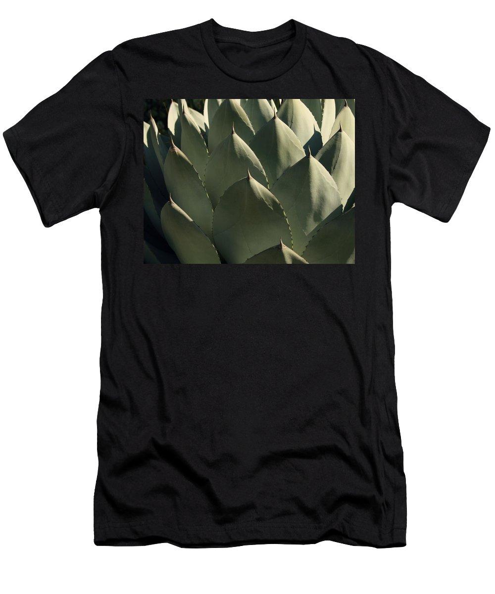 Blue Aloe Men's T-Shirt (Athletic Fit) featuring the photograph Blue Aloe by Ellen Henneke