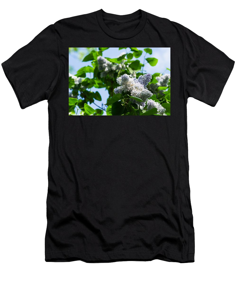 Beautiful Men's T-Shirt (Athletic Fit) featuring the photograph Blue And White Lilacs by Alexander Senin