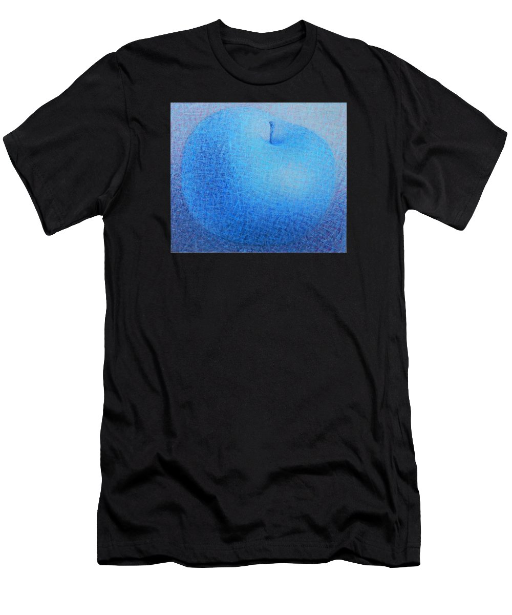 Blue Men's T-Shirt (Athletic Fit) featuring the painting Blue Apple by Muntean Floare