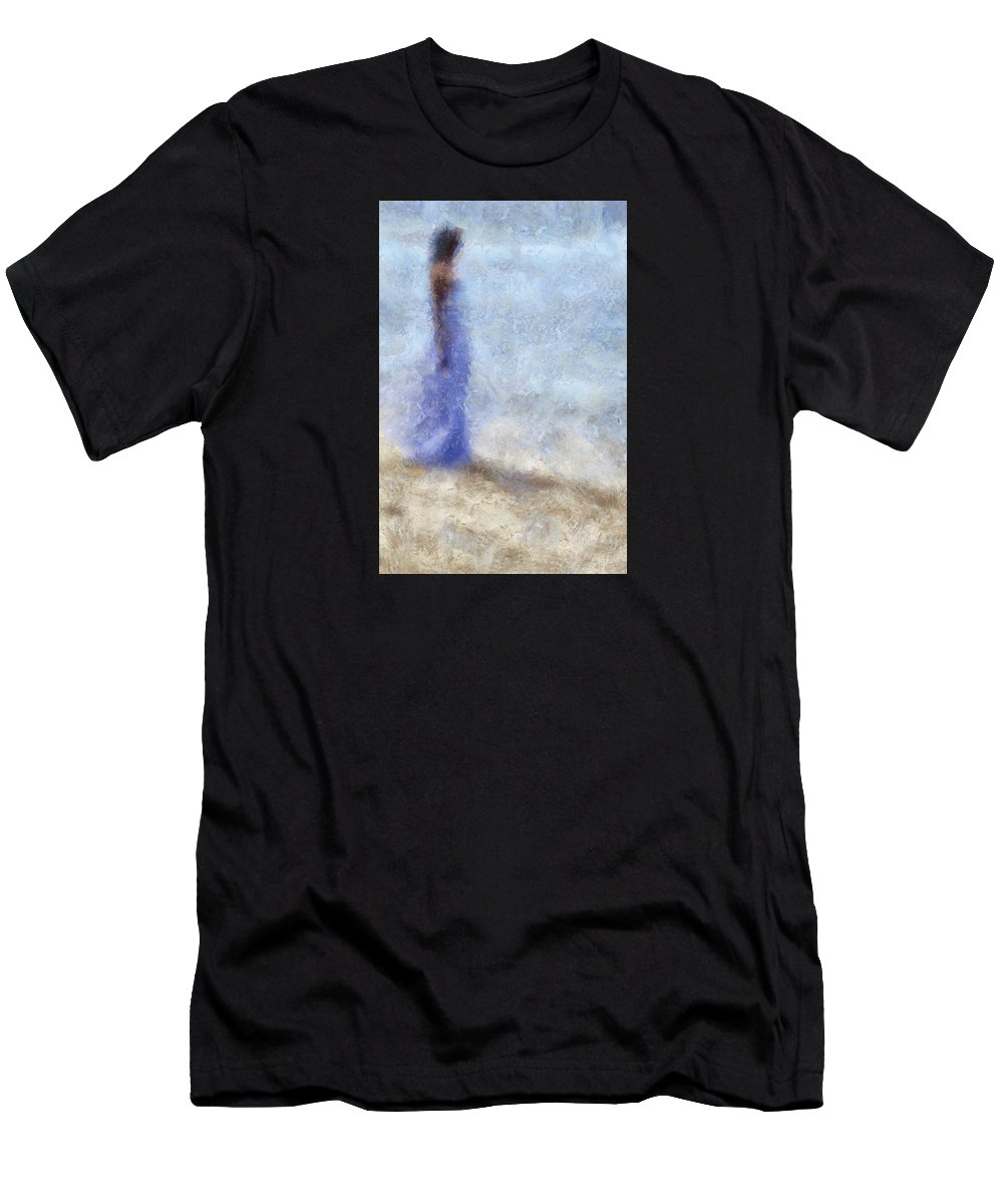 Impressionism Men's T-Shirt (Athletic Fit) featuring the photograph Blue Dream. Impressionism by Jenny Rainbow