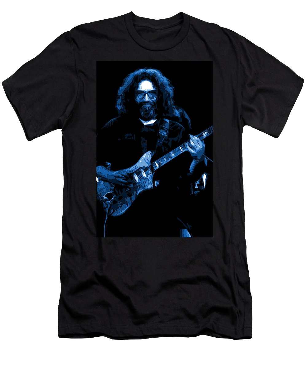 Jerry Garcia Men's T-Shirt (Athletic Fit) featuring the photograph Blue Eyes Of The World by Ben Upham